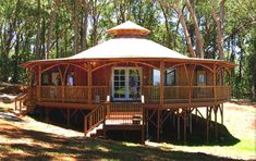 Pavilion Bamboo House - Alternative For Green Home Plans   Hahoy.