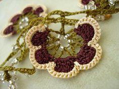 crochet flower garland.