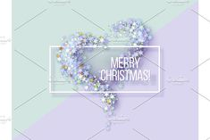 Merry Christmas Greetings card. by Valenty on @creativemarket
