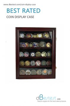 New Storage Display Box Showcase Frame Wall Hang For 12 PCGS Coin Slab Holder