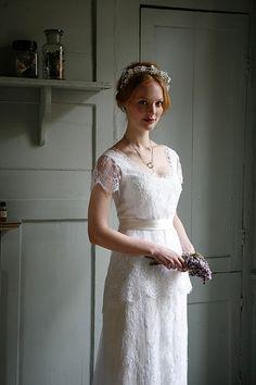 Sally Lacock Edwardian Vintage Inspired Wedding Dresses // Cherished Vintage Inspired Headpieces