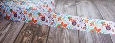 """Dragonfly ribbon - 1"""" grosgrain ribbon - Flower ribbon - Spring ribbon - Baby shower ribbon - Party favor DIY - DIY hair bows - How to make"""