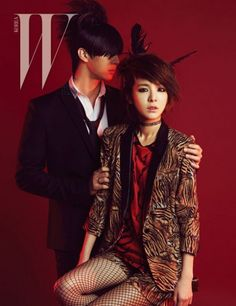 Power siblings Dara and Thunder get featured in 'W Korea' | http://www.allkpop.com/article/2015/04/power-siblings-dara-and-thunder-get-featured-in-w-korea