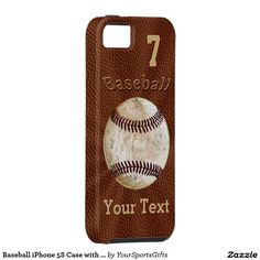 Baseball iPhone 5S Case with YOUR NUMBER and NAME iPhone 5 Cover. http://www.zazzle.com/baseball_iphone_5s_case_with_your_number_and_name_iphone_5_cover-179198249917039596?rf=238012603407381242 More gift Ideas.  CLICK HERE: http://www.Zazzle.com/YourSportsGifts   Visit our Website http://YourSportsGifts.com
