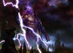Keranos, God of Storms - MtG Art
