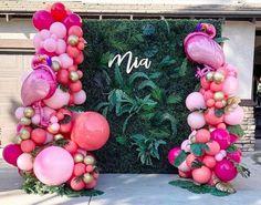 Flamingo Birthday, Luau Birthday, Summer Birthday, Pink Flamingo Party, Flamingo Baby Shower, Pink Birthday, Birthday Ideas, Balloon Garland, Balloons