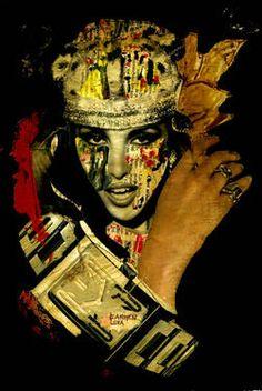 "Saatchi Art Artist CARMEN LUNA; Collage, ""17-COLLAGEMANIA Carmen Luna. Ana Belen."" #art http://www.saatchiart.com/art-collection/Assemblage-Collage/Collagemania-CARMEN-LUNA/71968/46137/view"