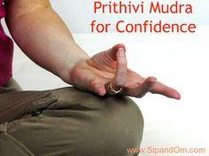 Try this simple mudra for self confidence. Receive free weekly meditations and tea tips at http://www.SipandOm.com.