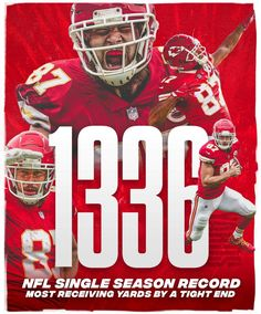 Travis Kelce setting records 12/30/18 Chiefs Kingdom Kansas City Chiefs Football, Football Memes, Nfl Redzone, Travis Kelce, City Pride, Kansas City Missouri, Football Conference, American Football, Superbowl Champs