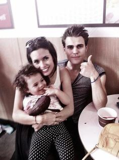 Adorable. :D Paul Wesley and Torrey DeVitto