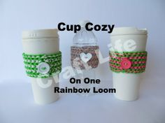 Cup Cozy on One Rainbow Loom Tutorial