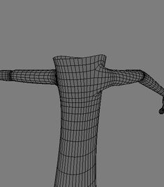 front view of subdivided cut out model
