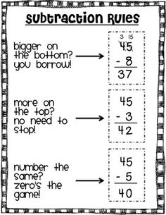 100 best Subtraction regrouping images on Pinterest   Math ...