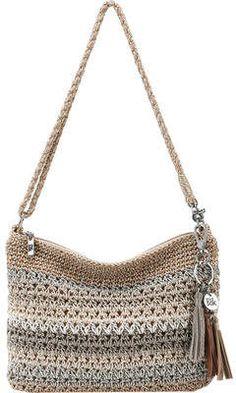 The Sak Casual Classics Demi Crotchet Bags, Knitted Bags, Crochet Handbags, Crochet Purses, My Style Bags, Crochet Shoulder Bags, Diy Tote Bag, Jute Bags, Crochet Edgings