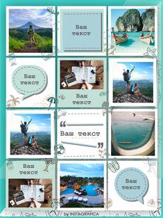 Шаблоны для Инстаграм турагентства Шаблон Voayge - Инстаграфика Instagram Design, Instagram Feed Theme Layout, Instagram Feed Ideas Posts, Graphic Design Lessons, Beach Background, Social Media Design, Holiday Travel, Beautiful Beaches, Gold Nails