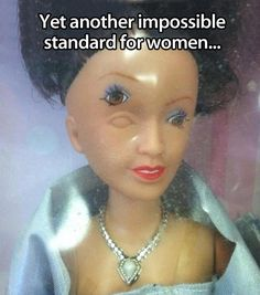 little girls, laugh, funny pictures, funni, funny photos, barbie, plastic surgery, one job, eyes
