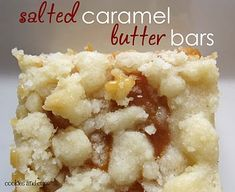 """Salted Caramel Butter Bars  ---  thought this said """"salted cat-amel butter bars"""" lol silly me"""