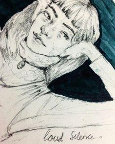 A Very Loud Silence #grayportofolio #illustration #drawing #artoftheday #artist #grunge #fanart #model #koreanmodel #inkdrawing #drawingpencil #drawingart #winsornewton