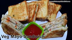 How To Make Veg Mayonnaise Sandwich On Pan | Tasty Snack And Tiffin Recipe