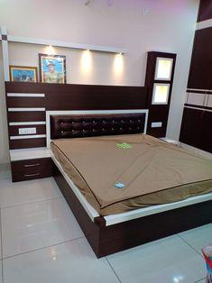 Bed Headboard Design, Bedroom Door Design, Bedroom False Ceiling Design, Door Design Interior, Bedroom Furniture Design, Home Room Design, Headboards For Beds, Bed Furniture, Box Bed Design