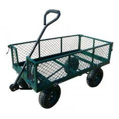 """Heavy Duty Steel Crate Wagon 34""""L x 18""""W (Green) (34""""D x 21.5""""H x 18""""W) $99.95"""