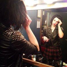 LynZ, Mindless Self Indulgence, backstage March, 2014. Photo by Amy Beckerman.
