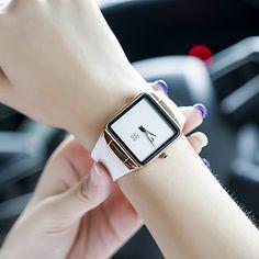 2016 Luxury Brand Women Fashion Quartz Watch Ladies Casual Simple Square Dial Calender Female Wristwatch Relogio Feminino - Online Shopping for Watches