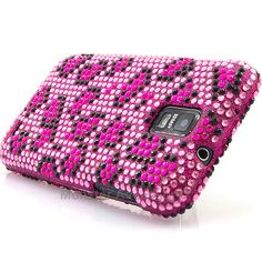CLICK PIC. TO SHOP: The pink leopard bling hard case snap on cover for the Samsung Galaxy S2 Skyrocket (AT) is a very stylish cover case that brings the shine out on your Galaxy S2 Skyrocket i727! Very affordable and we also have a variety of different bling designs. With tiny beads attached one by one this cover case will keep your phone protected from scratches and scuffs. 15% COUPON CODE : PiNiT