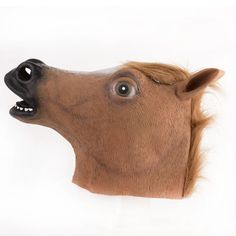 Novelty Creepy Horse Mask Halloween Head latex Rubber Mask Costume Theater Prop Party Horse Mask knock off Surprising Realistic