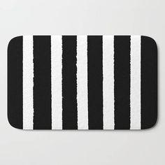 BATHROOM RUGS MATS Bath Rugs Black White Stripes Chic Gifts - Black and white striped bathroom rug for bathroom decorating ideas