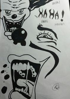 Desenho em nanquim, passatempo.