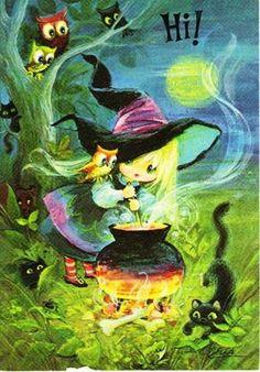 A witch & her cauldron