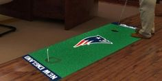 New England Pats Patriots Golf Putting Green Runner Area Rug