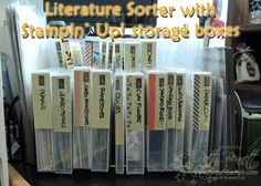 Organize craft accessories with Stampin' Up! storage boxes