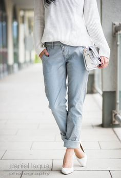 Casual but nice : Jeans im Metallic-Look