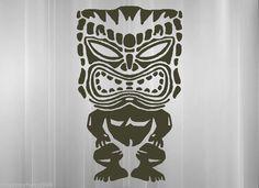 Hawaiian Tiki god vinyl sticker decal Maui Kauai lei tribal polynesian Samoan #VinylMayhem #Tropical