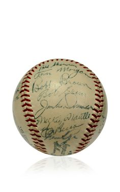 Brigandi Coin 1954 Ny Yankees Signed Baseball With Mickey Mantle And Yogi Berra by Brigandi Coins and Collectibles - Moda Operandi