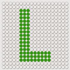 kralenplank: Letters / het alfabet Tangram, Alphabet Beads, Letter L, Lego, Perler Beads, Beading Patterns, Pixel Art, Needlepoint, Jewelry Crafts
