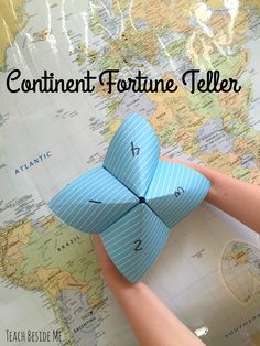 Continent Fortune Teller geography game for kids. Create this continent fortune teller as you explore geography at home or in school. A game from the new book 100 Fun & Easy Learning Games for Kids. Geography Games For Kids, World Geography Games, Geography Classroom, Geography Activities, Geography Lessons, Teaching Geography, Learning Games For Kids, Geography Quotes, Geography Revision