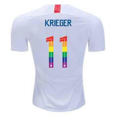 81a7a35c7cd 2018 19 White Red Ali Krieger Men s PRIDE Soccer Jersey USA Soccer City