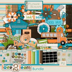 Love To Learn Bundle by Flower Scraps 8.25 #flowerscraps #thestudio #digitalscrapbooking