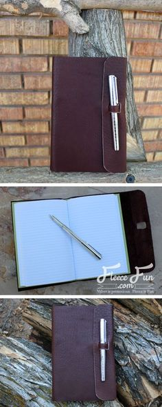 sewing gifts for men I love this handmade gift idea. A leather journal - so perfect and I love how clear the instructions are! Handmade Gifts For Men, Diy For Men, Leather Gifts, Handmade Leather, Custom Leather, Leather Jewelry, Leather Bags, Leather Handbags, Diy Leather Projects