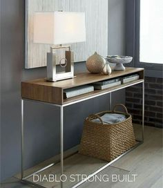 Frame Console Table Frame Console Table Source by crateandbarrel Console Design, Entry Tables, Modern Console Tables, Table Frame, Entryway Decor, Modern Entryway, Entryway Ideas, Entryway Lighting, Bedroom Decor