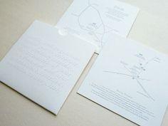 simple blind emboss wedding invitation
