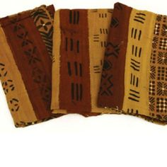 Traditional African Mud Cloth Bambara - Multi-strip