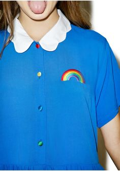 Lazy Oaf Cloud Collar Dress | Dolls Kill