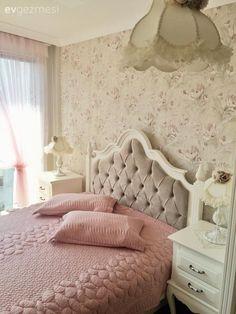 Country, Duvar kağıdı, Kahverengi, Pembe, Yatak Odası, Yatak örtüsü