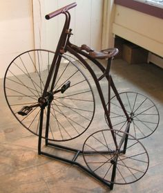 John D. Wahl Antiques - 19th Century Childs Highwheel Tricycle Or Ordinary