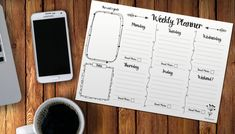 Free printable weekly planner. A lovely weekly planner that's great for organising and planning in your business or for using as a blogging schedule planner.