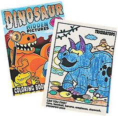 DINOSAUR PARTY ~ Activity Colouring Books with Stickers pack of 3 - Free Postage
